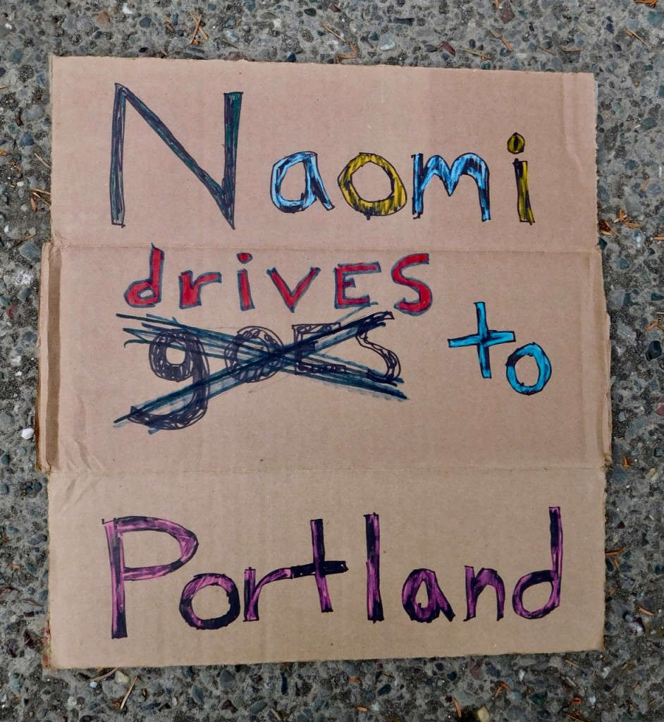 Naomi Drives To Portland